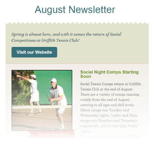 August Newsletter - Spring Social Comps return, Club Championships in September